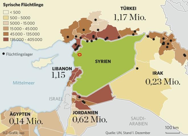 Syrien Irak Karte.Flucht Aus Syrien Knut Krohn Blog